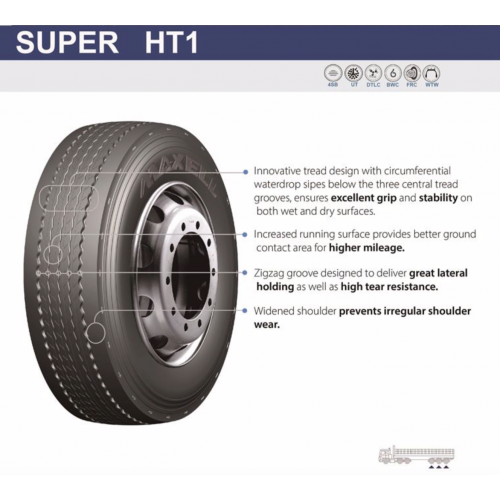 Грузовые шины 385/65 R22.5 MAXELL Super HT1